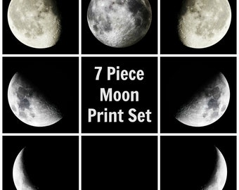Moon Phase Photography 7 Piece Set