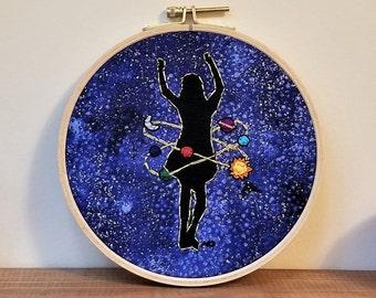 """Hula Hoop Universe 6"""" Embroidery Hoop"""