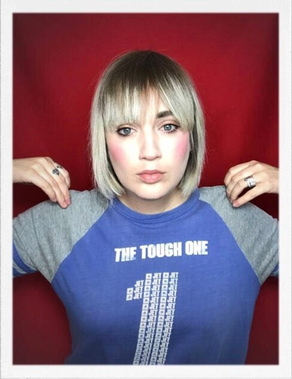 """Vintage Women's The Tough One Tee 19"""" width 23"""" length"""