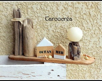 Driftwood Beach decor candle holder