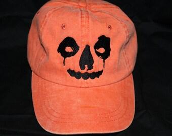 Jack O Lantern orange dad hat