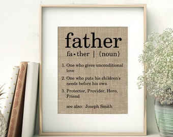 Definition of Father   Personalized Father's Day Gift From Children   Birthday Gift for Dad Daddy Papa Pop   Fathers Day Gift from Children
