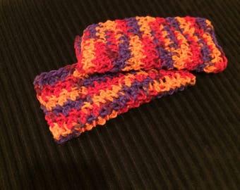 Pair of Washcloths, Crochet Washcloths, Cotton Washcloths, Dishcloths