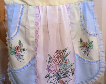 vintage apron ... HOLIDAY SPECTACULAR  VINTAGE  Apron  ...