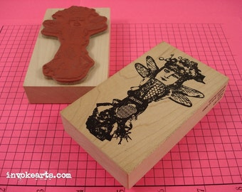Pearl Stamp / Invoke Arts Collage Rubber Stamps