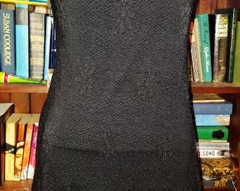 Vintage 90s grunge punk goth net stretch mesh mini dress SMALL