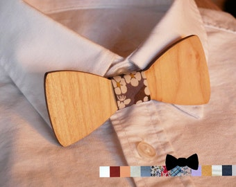Kid wooden bow tie personalized with name engraved, child wood bow tie, custom bowtie