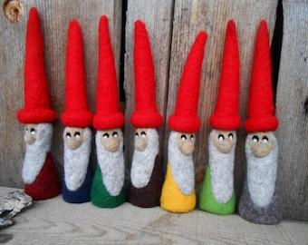 Needle Felted Gnome Large Gnome Felt Gnomes Scandinavian Christmas Decor Swedish Gnome Swedish Elf Elves Tomte Nisse