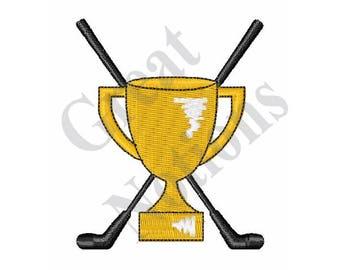 Golf Trophy - Machine Embroidery Design