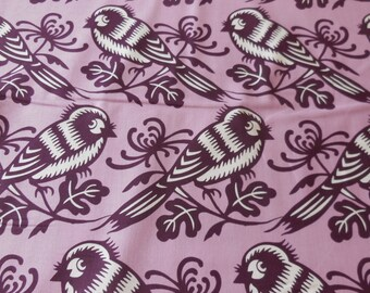 Chirp - Orch Background - Birds Michael Miller Fabric 1 Yard