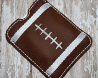 Digital Download  Football Gum Sleeve Machine Embroidery Design for the 4x4 hoop