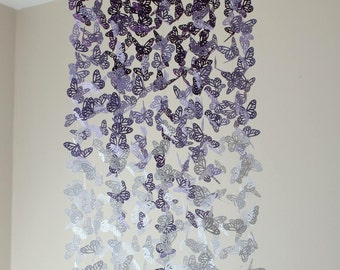 Butterfly Nursery Mobile - Purple Ombre Chandelier Butterfly Mobile - Butterfly Mobile - Crib Mobile - Nursery Decor -  Gift - Baby Mobile