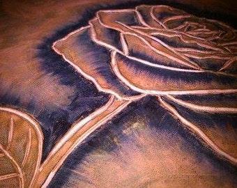 Rose Engraved tobacco bag