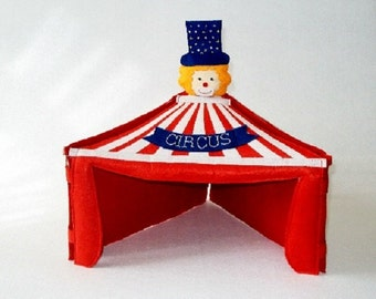 Soft toy circus tent, Circus Centerpieces, Toddler toy, Kids gift, Party decor, baby shower decor, baby photography prop, personalized gift