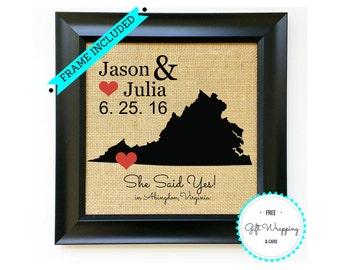 Engagement Gift for Couple - Engagement Gifts for Couples - Custom Engagement Gift Idea - Unique Engagement Gift - Fiance Gift - Proposal