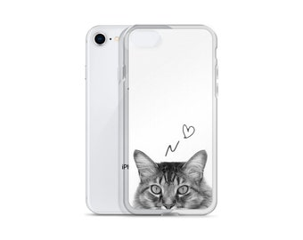 Cat iPhone X Case, Cute iPhone Case iPhone 7 Case, iPhone 6 Case, iPhone 8 Case, iPhone 6S Case, iPhone 8 Plus, iPhone 7 Plus iPhone 6S Plus