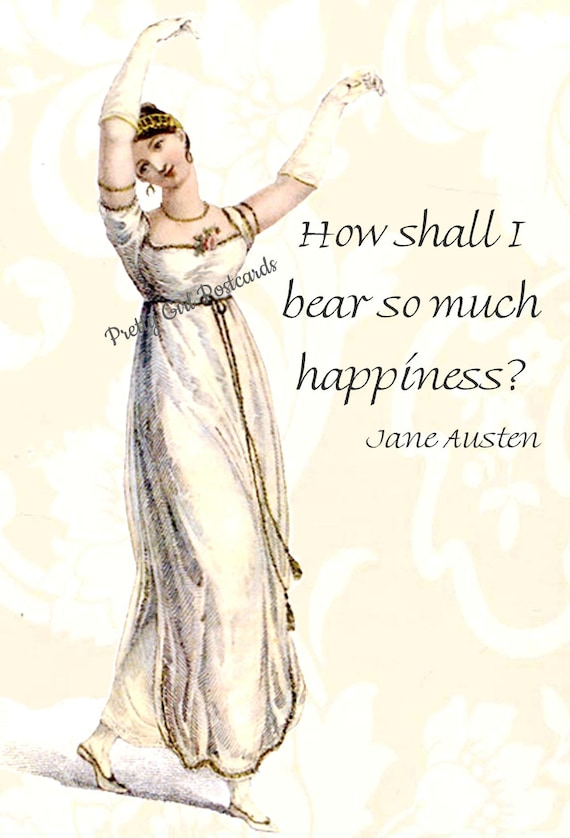 Jane Austen Postcard Jane Austen Card Pride and Prejudice Regency Card Elizabeth Bennet Lizzie Darcy Pretty Girl Postcards Free Ship in USA