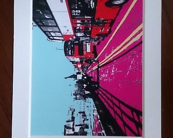 Waterloo Bridge digital print