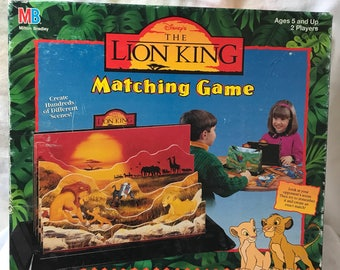 Vintage 1990's The Lion King Matching Game, by Milton Bradley. 100% Complete, Used.
