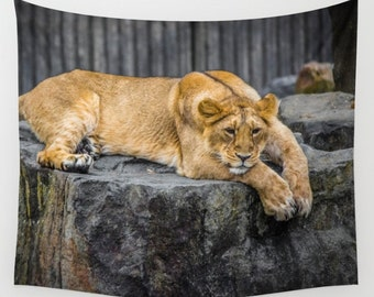 Lion tapestry animal tapestry water tapestry Photo Tapestry Nature Tapestry Green Tapestry Wall Hanging Tapestry hippie tapestry