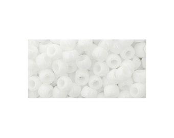 6/0 Opaque White Seed Bead 5 gm