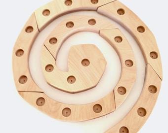 Wooden Spiral, Advent Spiral, Waldorf inspired, Lent, Celebration Spiral, Birthday Ring countdown