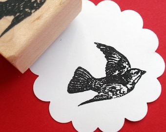 Flying Bird Rubber Stamp - Handmade rubber stamp by BlossomStamps