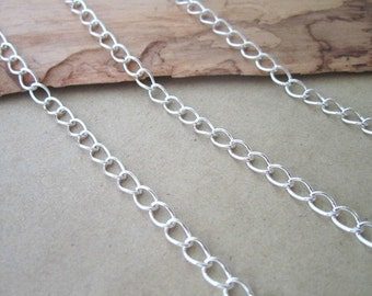 16ft Silver color necklace chain 4mm
