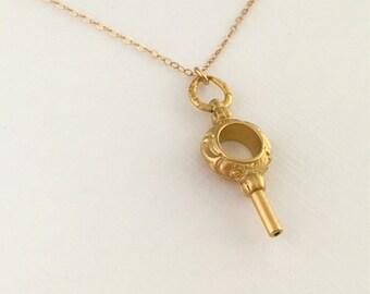 18kt Key Necklace