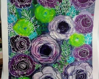 Abstract flowers I