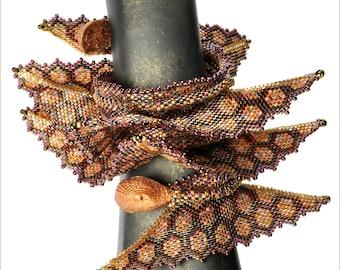 "The ""Sea Dragon Variation"" Wrist Wrap Beading Kit (inspired www.ContemporaryGeometricBeadwork.com)"