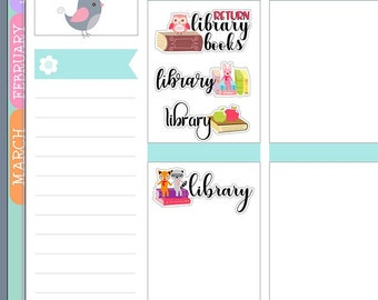 AE138 ~ Library Planner Stickers