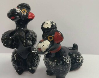 French Poodle Dog Canine Figurines