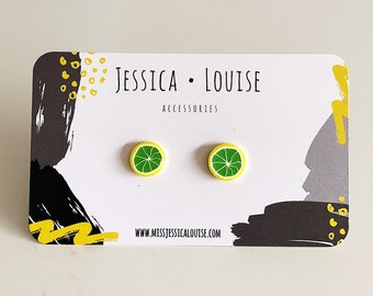 Citrus Fruit Earrings / Citrus Studs / Fruit Studs / Kawaii Fruit Studs / Kawaii Citrus Studs / Kawaii Fruit Earrings