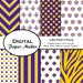 LSU Tigers Party Pack to use for scrapbooking, clipart, backgrounds, invitations, party supplies and more. Instant download.