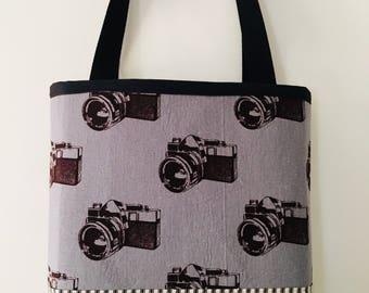 City Tote Bag  - Cameras - grey
