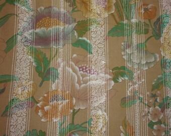 vintage fabric big flowers