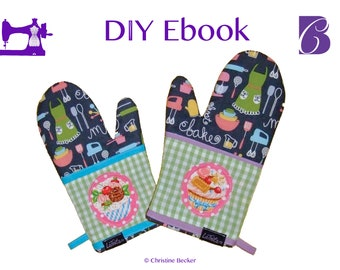 DIY Ebook PDF Tutorial and Pattern Oven Glove
