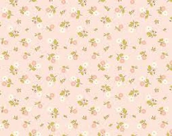 Riley Blake Marguerite in Pink Small Flowers - 1 yard