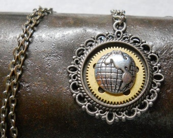 Earth Cameo Necklace