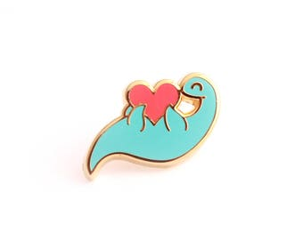 Plesiosaur Enamel Pin (dinosaur pin hard enamel pin lapel pin badge nessie pin enamel jewelry cute jewelry cloisonne backpack pin brooch)