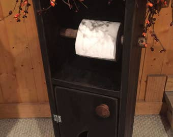 Toilet Paper Holder, Outhouse Toilet Paper Holder and Storage, Distressed Outhouse