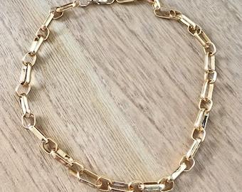 Gold chain necklace, gold necklace, gold, chain, gold chain, minimal necklace, gold necklace