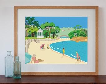 Balmoral Beach Modern Retro Art Print