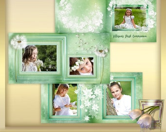 Photo Book Template First Communion - Photo Album Template - 12x12  Photoshop Template - First Communion - instant download