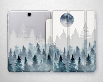 Forest case Galaxy S3 Tab case Moon caseSamsung Tab S2 case Tablet case 10 inch Galaxy s2 9.7 case Tab A case 8 inch Tablet case 10.1 3 2