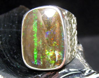 Australian Matrix Opal Ring