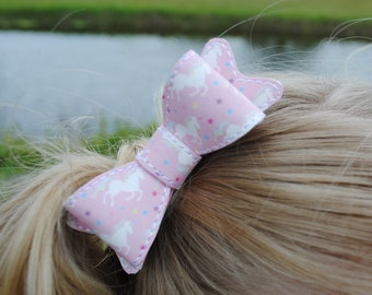 Pink Baby Bows Unicorn Hair Bows for Girls Pigtail Bows for Fine Hair Gift for Horse Lover Hairbows for Babies Bow Clips Unicorn Bow Set