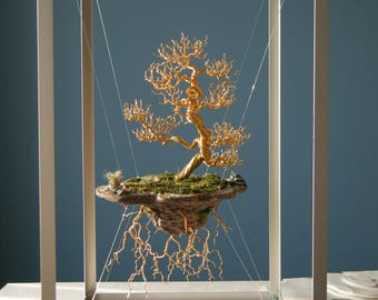Wire Tree Sculpture, Floating island