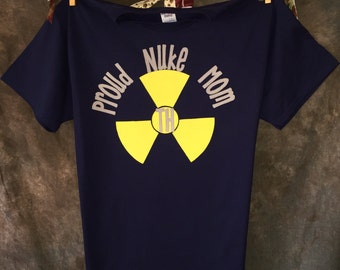 Personalized Proud Navy Nuke Mom T-shirt